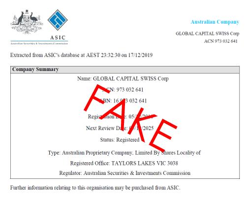 fake company extract