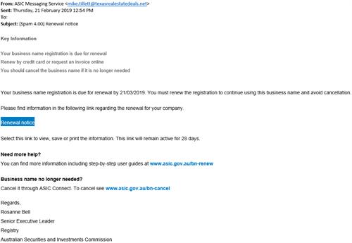 Scams targeting ASIC customers | ASIC - Australian ...