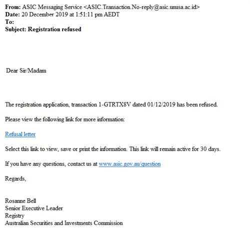 Asic Scam 20191220