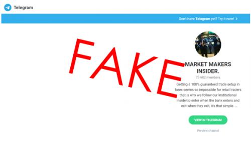 MMI scam Telegram account